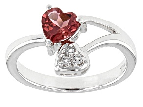 Pink Rubellite Tourmaline Sterling Silver Ring .67ctw