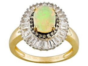 Ethiopian Opal 14k Yellow Gold Ring 1.92ctw