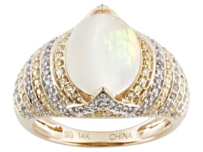 Ethiopian Opal 14k Yellow Gold Ring 2.90ctw