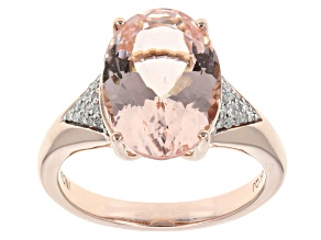 Pink Morganite 14k Rose Gold Ring 5.61ctw