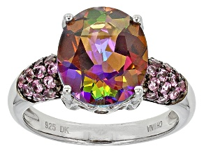 Multicolor Topaz Sterling Silver Ring 5.39ctw