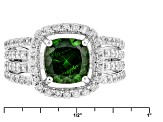 Green Chrome Diopside Sterling Silver Ring 2.96ctw