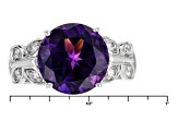 Purple Amethyst Sterling Silver Ring 4.20ctw