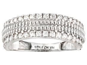 Cubic Zirconia 10k White Gold Ring .96ctw (.63ctw DEW)