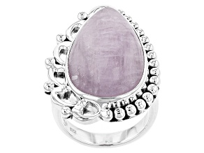 Pink Kunzite Sterling Silver Ring