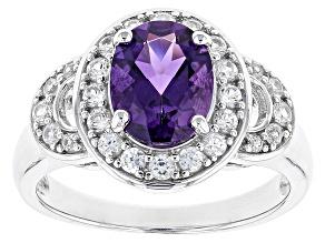 Purple Uruguayan Amethyst Sterling Silver Ring 2.01ctw