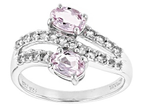 Pink Topaz Sterling Silver Ring 1.17ctw