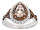 Pink Morganite Sterling Silver Ring 1.69ctw