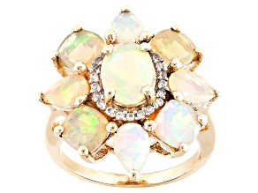 Ethiopian Opal 10k Yellow Gold Ring 3.31ctw