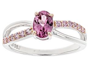 Purple Garnet Silver Ring .99ctw