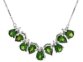 Green Chrome Diopside Sterling Silver Necklace 5.36ctw