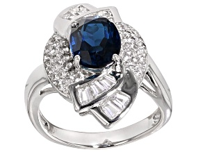 Blue Topaz Sterling Silver Ring 2.7ctw