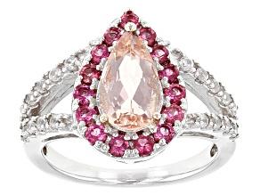 Pink Morganite Sterling Silver Ring 2.10ctw