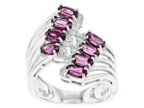 Purple Rhodolite Sterling Silver Ring 2.30ctw