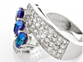 Color Change Lab Created Alexandrite Sterling Silver Ring 2.69ctw