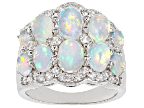 Ethiopian Opal Sterling Silver Ring 3.24ctw