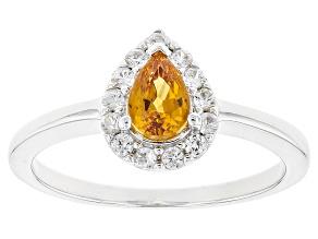 Orange Spessartite Sterling Silver Ring .70ctw