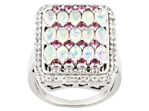 Ethiopian Opal Sterling Silver Ring 3.26ctw