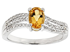 Yellow Citrine Sterling Silver Ring. 1.03ctw