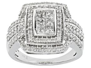 Diamond 10k White Gold Ring 1.50ctw