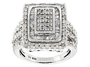Diamond Silver Ring 1.90ctw