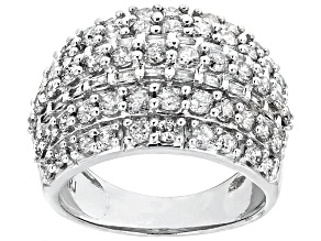 White Diamond 10k White Gold Ring 2.25ctw