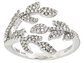 White Diamond 14k White Gold Ring .40ctw