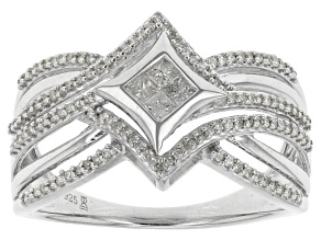Diamond Sterling Silver Ring .33ctw