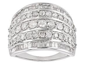 White Diamond 10k White Gold Ring 2.15ctw