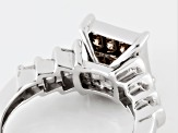 Champagne And White Diamond Sterling Silver Ring 1.00ctw