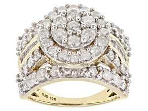 White Diamond 10k Yellow Gold Ring 2.95ctw
