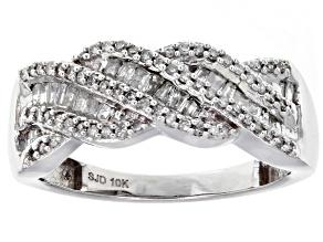 White Diamond 10k White Gold Ring .50ctw