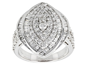 Diamond 14k White Gold Ring 1.85ctw