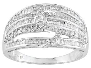 Diamond, 10k White Gold Ring .67ctw