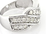 White Diamond 10k White Gold Ring .90ctw