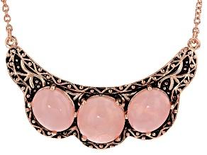 Copper Pink Quartz Necklace