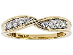 Moissanite 14k Yellow Gold Ring .22ctw DEW.
