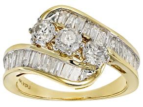 White Diamond 14k Yellow Gold Ring 2.00ctw