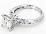 Moissanite Ring Platineve™ 3.20ctw DEW