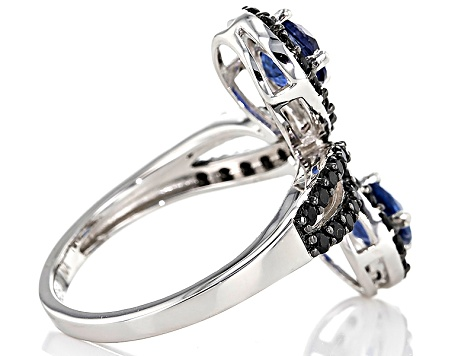 Blue Kyanite Sterling Silver Ring 2.25ctw