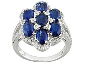 Blue Kyanite Sterlings Ilver Ring 5.50ctw