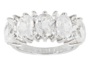 White Topaz Sterling Silver 5-Stone Ring 5.44ctw
