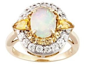 Ethiopian Opal 10k Yellow Gold Ring 2.21ctw