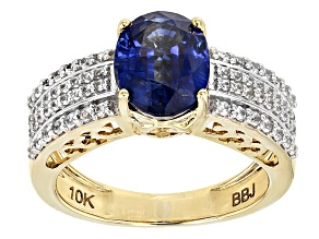 Blue Kyanite 10k Yellow Gold Ring 3.54ctw