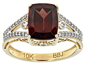 Brown Zircon 10k Yellow Gold Ring 4.28ctw