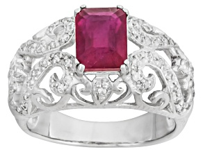 Mahaleo Ruby Sterling Silver Ring 2.53ctw