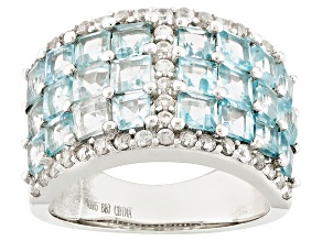 Sky Blue Topaz Sterling Silver Ring 4.31ctw