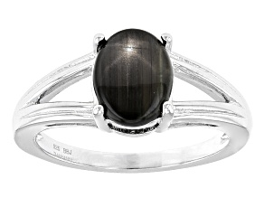 Black Star Mahaleo Sapphire Sterling Silver Ring 1.98ct