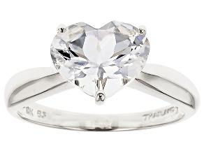 White Danburite 10k White Gold Ring 2.05ct