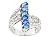 Blue Kyanite Sterling Silver Ring 3.59ctw